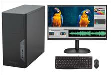 LEC, Degree, Desktop, Intel, i5-10400, processor, 8GB, DDR4, ram, 500GB, SSD, DVDRW, Windows, 10, Home, 500W, PSU, 23.8, Monitor,