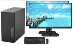 LEC, Pro, Desktop, Intel, i7-10100, processor, 16GB, DDR4, ram, 1TB, SSD, DVDRW, Windows, 10, Pro, 500W, PSU, 2x, 27, Monitor, 3, y,