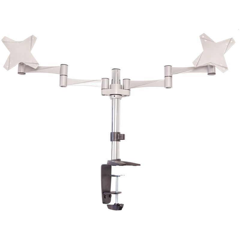 Astrotek, Monitor, Stand, Desk, Mount, 43cm, Arm, for, Dual, Screens, 13, -27, 8kg, 15°, tilt, 180°, swivel, 360°, rotate, VESA, 75x75, 1,
