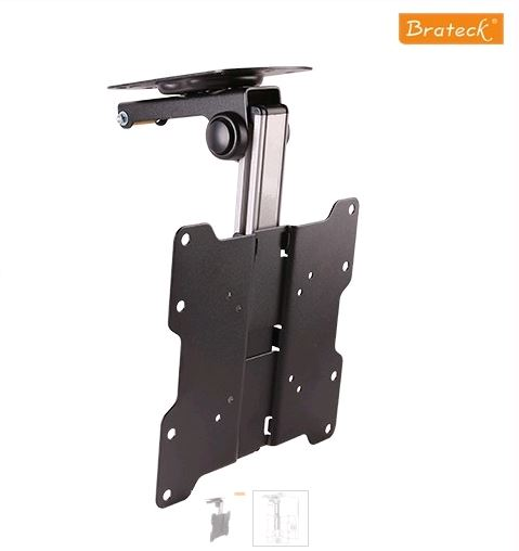 Brateck, Fold-up, Retractable, TV, Ceiling, Mount, For, Flat, Ceiling, Pitched, Roof, for, 17, -37, LED, LCD, TVs, and, Screens,