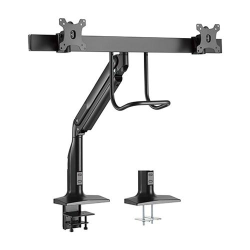 Brateck, Dual, Monitors, Select, Gas, Spring, Aluminum, Monitor, Arm, Fit, Most, 17'-35', Monitors, Up, to, 10kg, per, screen, VESA, 75,