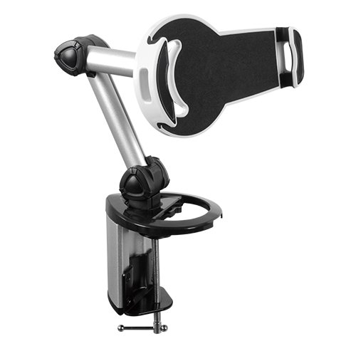 Brateck, 2-IN-1, Aluminum, Tablet, Desk, Clamp, Holder, (Desk, Stand/Wall, Mount), For, Most, 7, -10.4, Tablets,
