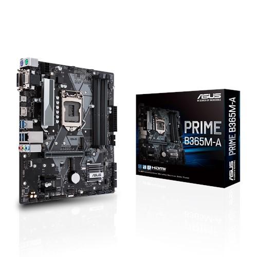 ASUS, PRIME, B365M-A, Intel, LGA-1151, mATX, MB, Aura, Sync, RGB, header, DDR4, 2666MHz, M.2, HDMI, SATA, 6Gbps,