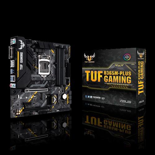 ASUS, TUF, B365M-PLUS, GAMING, Intel, LGA, 1151, mATX, Gaming, Motherboard, with, Aura, Sync, RGB, LED, Lighting, DDR4, 2666MHz, support,