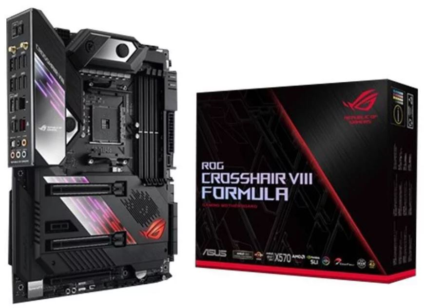 ASUS, ROG, Crosshair, VIII, Formula, AMD, X570, ATX, Gaming, Motherboard, PCIe, 4.0, Wi-Fi, 6, (802.11ax), 5Gbps, LAN, USB, 3.2, SATA,