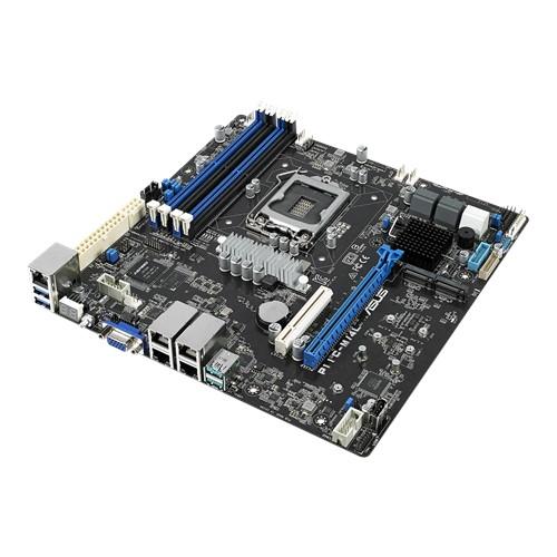 ASUS, P11C-M/4L, Workstation, Motherboard, LGA1151, E-2200, mATX, 4, x, DIMM, Dual, M.2, TPM, 6, x, SATA, USB, 3.1, 4, x, Gbe,