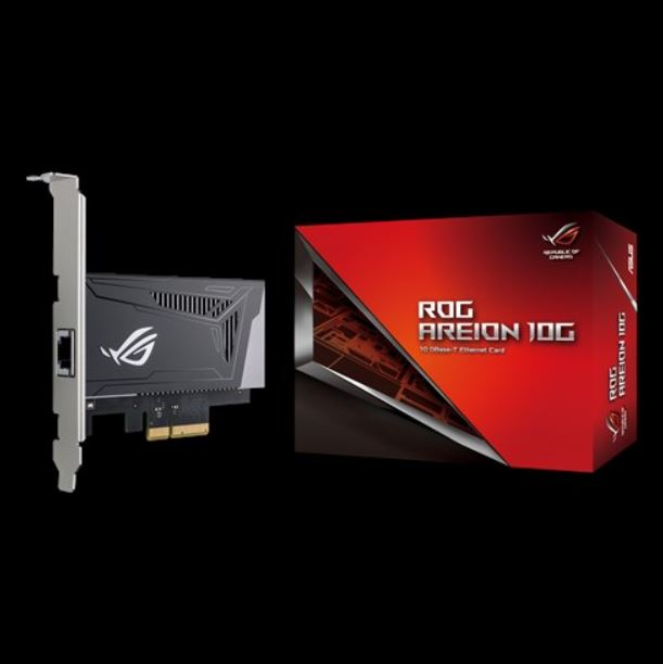 ASUS, ROG, AREION, 10G, Superfast, 10G, speed, with, backwards, compatibility, of, 5/2.5/1G, and, 100Mbps;, full-sized, heatsink, and, LA,