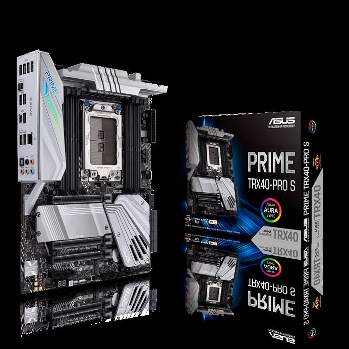 ASUS, AMD, PRIME, TRX40-PRO, S, TRX40, Motherboard, sTRX4, for, 3rd, Gen, Ryzen, Threadripper-series, Processors, 16, Power, Stages, DD,