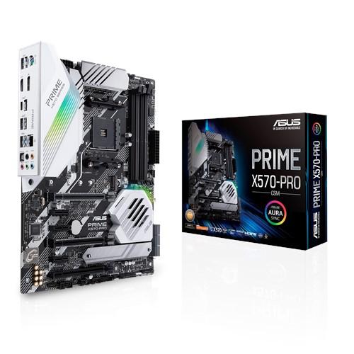 ASUS, PRIME, X570-PRO/CSM, AMD, AM4, X570, ATX, MB, PCIe, 4.0, 14, DrMOS, Power, Stages, DDR4, 4400Mhz, Dual, M.2, HDMI, SATA, 6Gb/s,