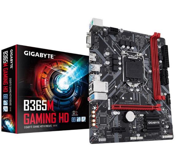 Gigabyte, B365M, GAMING, HD, LGA1151, 9Gen, mATX, MB, 2xDDR4, 2xPCIe, HDMI, M.2, 4xSATA, 6xUSB3.1, 6xUSB2, GbE, LAN, ~GA-B360M-H,