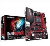 Gigabyte, B450M, GAMING, AMD, Ryzen, Gen2, mATX, 2xDDR4, 3xPCIe, HDMI, 1xM.2, 4xSATA, RAID, GbE, LAN, 6xUSB3.1, 6xUSB2.0, RGB,