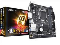 Gigabyte, GA-H310M, S2V, V2.0, LGA1151, 9Gen, mATX, MB, 2xDDR4, 2xPCIe, 1xD-Sub, 1xDVI-D, 4xSATA, GbE, LAN, 4xUSB3.1, 6xUSB2.0,