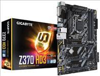 Gigabyte, GA-Z370, HD3, LGA1151, 8Gen, ATX, MB, 4xDDR4, 6xPCIe, DVI, HDMI, 1xM.2, 6xSATA3, RAID, Intel, GbE, LAN, CF, 8xUSB3.1, RGB, ~GA-Z37,
