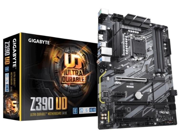 Gigabyte, Z390, UD, LGA1151, 9Gen, ATX, MB, 4xDDR4, 6xPCIe, HDMI, 1xM.2, 6xSATA, RAID, Realtek, GbE, LAN, CF, 8xUSB3.1, 2xUSB2.0, RGB,