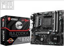 MSI, B350M, BAZOOKA, MATX, Motherboard, -, AMD, AM4, Ryzen, 4xDDR4, PCI-E, M.2, HDMI/DVI,