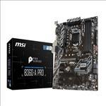 MSI, B360-A, PRO, ATX, Motherboard, -, S1151, 8Gen, 4xDDR4, 6xPCI-E, 1xM.2, 4xUSB3.1, 2xUSB2.0, 1xDP, 1xDVI,