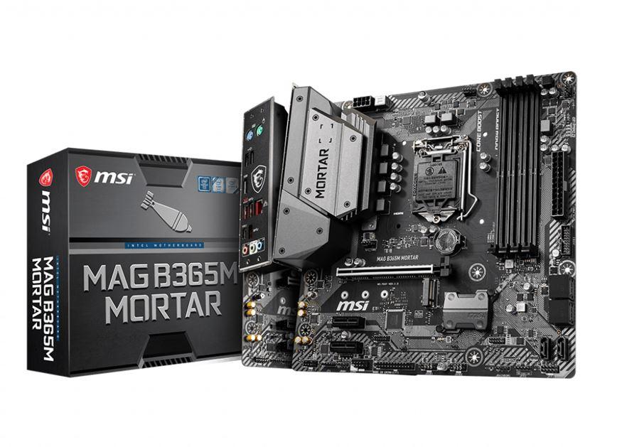 MSI, B365M, MORTAR, mATX, Motherboard, LGA1151, 9Gen, 4xDDR4, 3xPCI-E, 1xTurbo, M.2, 6xUSB3.1, 6xUSB2.0, 1xHDMI, ~B360M, MORTAR,
