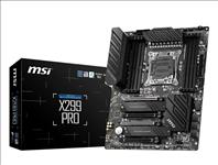MSI, X299, PRO, ATX, MB, X-series, LGA2066, 8xDDR4, 4xPCI-E, 2xM.2, Turbo, 6xSATA3, 10xUSB3.2, Type-C, 8xUSB2.0, RAID, TPM, Dual, LAN, SLI/,