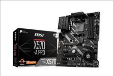 MSI, X570A, PRO, Ryzen, AM4, ATX, Motherboard, 4xDDR4, 5xPCIE, 2xM.2, RAID, GbE, 6xSATAIII, LAN, Realtek®, 8111H, 10xUSB3.2, 6xUSB2.0, HD,