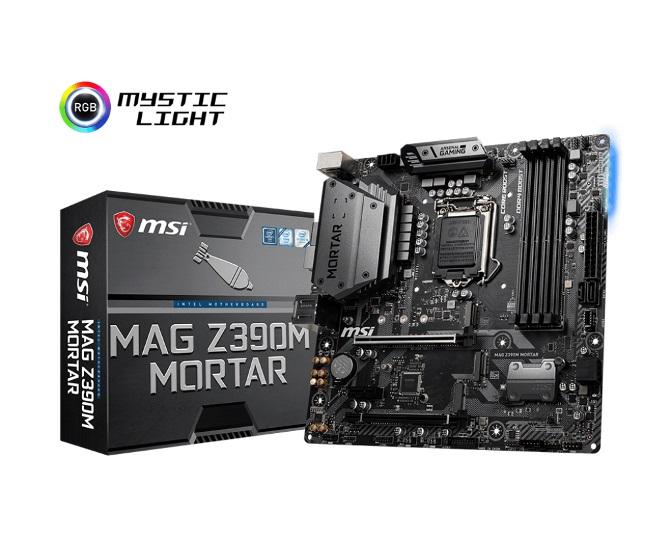 MSI, MAG, Z390M, Mortar, Motherboard, -S1151, 9Gen, 4xDDR4, 2xPCIe, DP, DVI, HDMI, 2xM.2, 4xSATA, RAID, SLI/CF, 2xUSB-C, 3xUSB3.1, RGB, ~Z3,