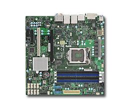 Supermicro, X11SAE, mATX, E3-1200v5/v6, Gen6/7, i7/i5/i3, 4x, DDR4, ECC, M.2, SATA, RAID, 2x, GbE, C236, DVI-D, DP, HDMI,