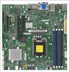 Supermicro, Workstation, MotherBoard, X11SCZ-F, uATX, Intel, C246, LGA1151, E-2200, DDR4-2666, UDIMM, 2, x, DisplayPort, M.,
