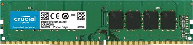 Crucial, DDR4, 4GB, 2400Mhz, (PC-19200), CL17, SR, x8, Unbuffered, Non-ECC, Desktop, Memory, [CT4G4DFS824A],