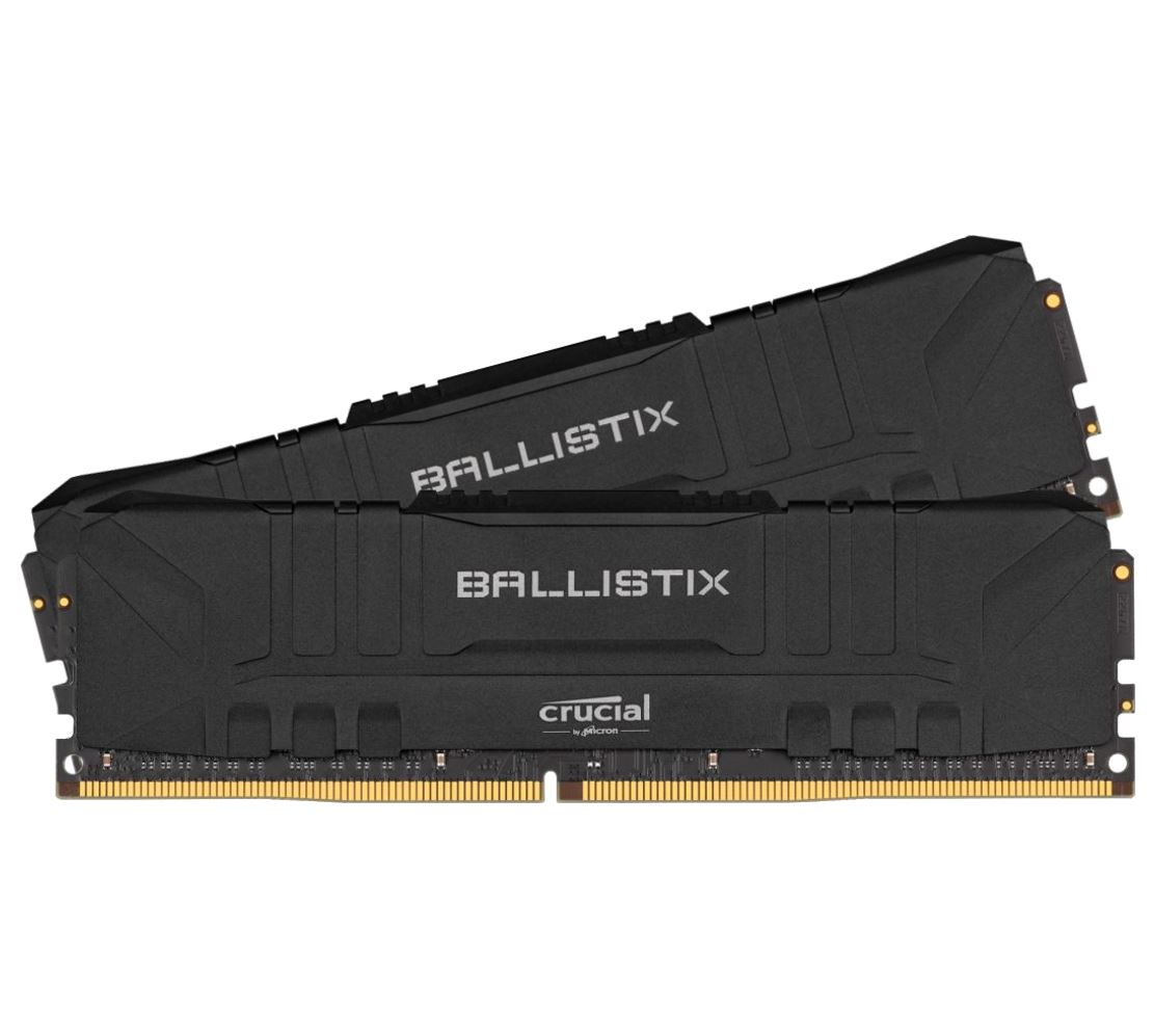 Crucial, Ballistix, 32GB, (2x16GB), DDR4, UDIMM, 3600MHz, CL16, Anodized, Aluminum, Heat, Spreader, XMP2.0, Desktop, PC, Gaming, Memory,