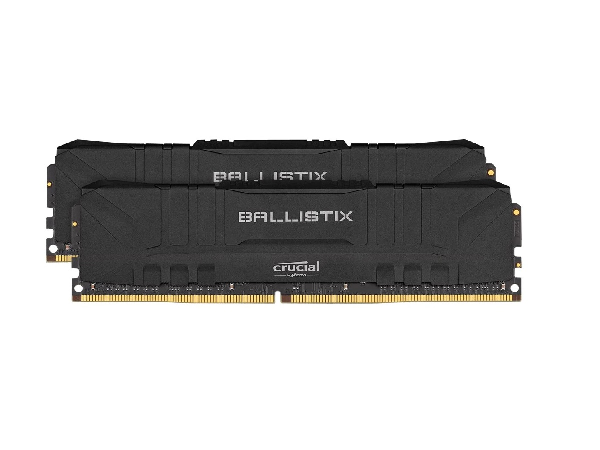 Crucial, Ballistix, 32GB, (2x16GB), DDR4, UDIMM, 3200MHz, CL16, 16-18-18-36, Gaming, Memory, for, Desktop, PC, Black, Color,