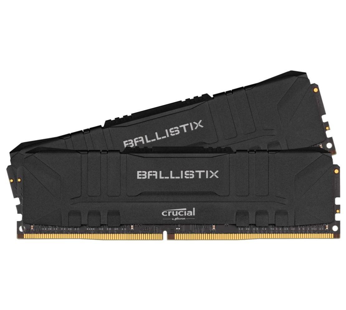 Crucial, Ballistix, 16GB, (2x8GB), DDR4, UDIMM, 3000MHz, CL15, Desktop, PC, Gaming, Memory, Black,