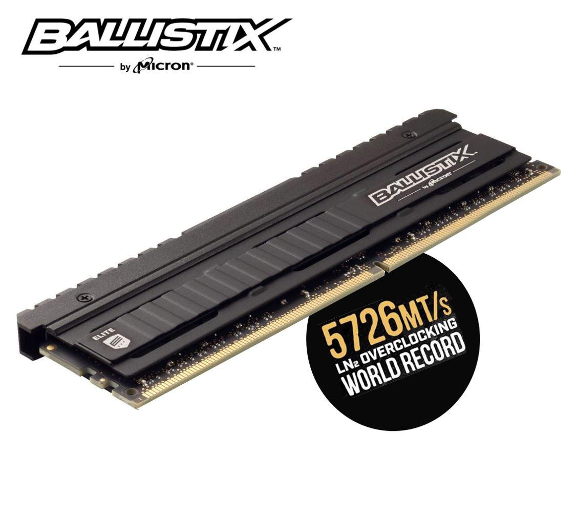 Crucial, Ballistix, Elite, 8GB, (1x8GB), DDR4, UDIMM, 4000MHz, CL18, 18-19-19-39, 1.35V, Black, Heat, Spreader, AMD, Ryzen, Intel, XMP, 2.,