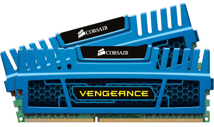Corsair, Vengeance, 8GB, (2x4GB), DDR3, 1600MHz, C9, Desktop, Gaming, Memory, Blue,