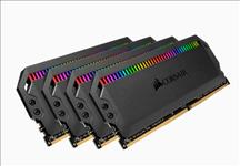 Corsair, Dominator, Platinum, RGB, 64GB, (4x16GB), DDR4, 3466MHz, C16, DIMM, Unbuffered, 16-18-18-36, XMP, 2.0, Black, Heatspreaders, 1.,