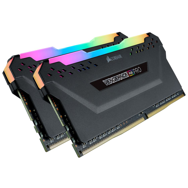 Corsair, Vengeance, RGB, PRO, 64GB, (2x, 32GB), DDR4, 3200MHz, C16, Desktop, Gaming, Memory,
