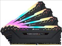 Corsair, Vengeance, RGB, PRO, 128GB, (4x32GB), DDR4, 3200MHz, C18, 1.35V, 288Pin, DIMM, XMP, 2.0, Anodized, Aluminum, Desktop, Gaming, Mem,