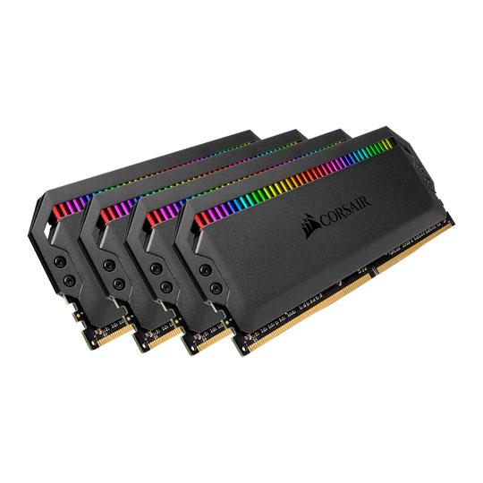 Corsair, Dominator, Platinum, RGB, 64GB, (4x16GB), DDR4, 3200MHz, C16, XMP, 2.0, White, Desktop, PC, Gaming, Memory, ~CMT64GX4M4C3200C16,