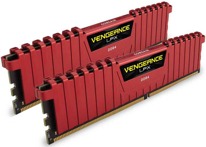Corsair, Vengeance, LPX, 16GB, (2x8GB), DDR4, 2133MHz, C13, Desktop, Gaming, Memory, Red,