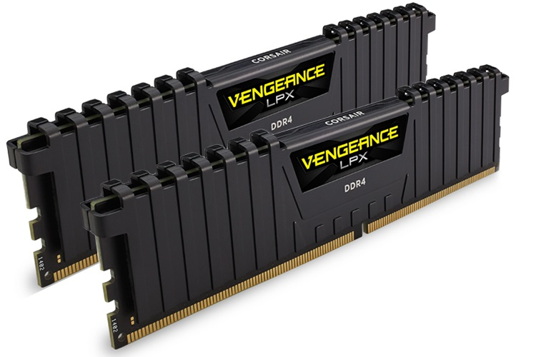 Corsair, Vengeance, LPX, 16GB, (2x8GB), DDR4, 2400MHz, C16, Desktop, Gaming, Memory, Black,