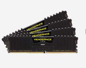 Corsair, Vengeance, LPX, 64GB, (4x16GB), DDR4, 3200MHz, C16, 16-18-18-36, 1.35V, XMP, 2.0, Black, Desktop, Gaming, Memory,