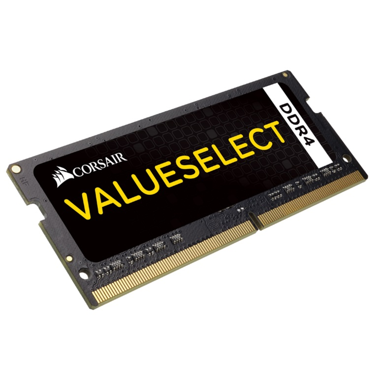 Corsair, 16GB, (1x16GB), DDR4, SODIMM, 2133MHz, C15, 1.2V, 15-15-15-36, 260pin, Value, Select, Notebook, Laptop, Memory, RAM,
