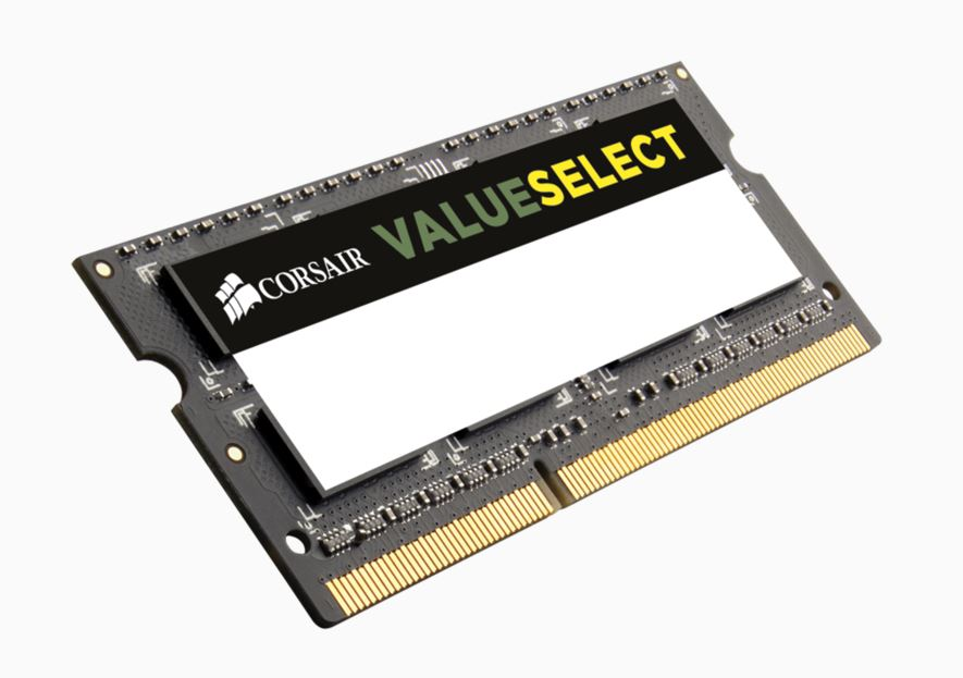 Corsair, Value, Select, 4GB, (1x4GB), DDR3, SODIMM, 1333MHz, 1.5V, PC3-10600, 204pin,
