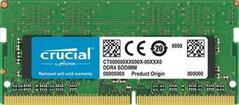 Crucial, DDR4, 16GB, 2666Mhz, (PC-21300), 1.2V, CL19, SR, x8, Unbuffered, Non-ECC, SODIMM, 260pin, [CT16G4SFS8266],