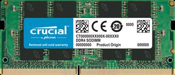 Crucial, 8GB, (1x8GB), DDR4, SODIMM, 2666MHz, CL19, Single, Stick, Notebook, Laptop, Memory, RAM, ~MECN4-1X8G26SR, CT8G4SFS8266,