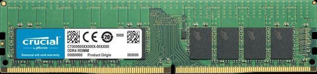 Crucial, DDR4, 16GB, 2666Mhz, (PC-21300), CL19, DR, x4, Registered, ECC, RDIMM, [CT16G4RFD4266],