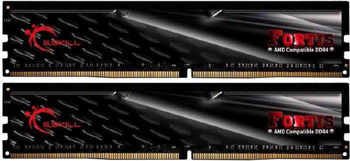 G.SKILL, FORTIS, 16GB, (2x8GB), DDR4, 2400Mhz, C15, 1.2V, Gaming, Memory, AMD, Ryzen, LS,