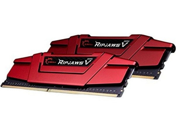 G.SKILL, RipjawsV, 16GB, (2x8GB), DDR4, 2400Mhz, C15, 1.2V, Gaming, Memory, Red, (LS),