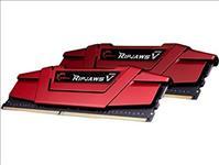 G.SKILL, RipjawsV, 8GB, (2x4GB), DDR4, 2400Mhz, C15, 1.2V, Gaming, Memory, Red, LS,