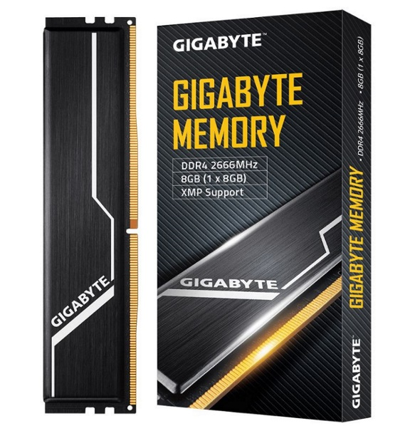 Gigabyte, Gaming, Memory, 8GB, (1x8GB), DDR4, 2666MHz, C16, 1.2V, 16-16-16-35, XMP, 2.0, Dual, Channel, Kit, Aluminum, Black, Heatsinks, P,