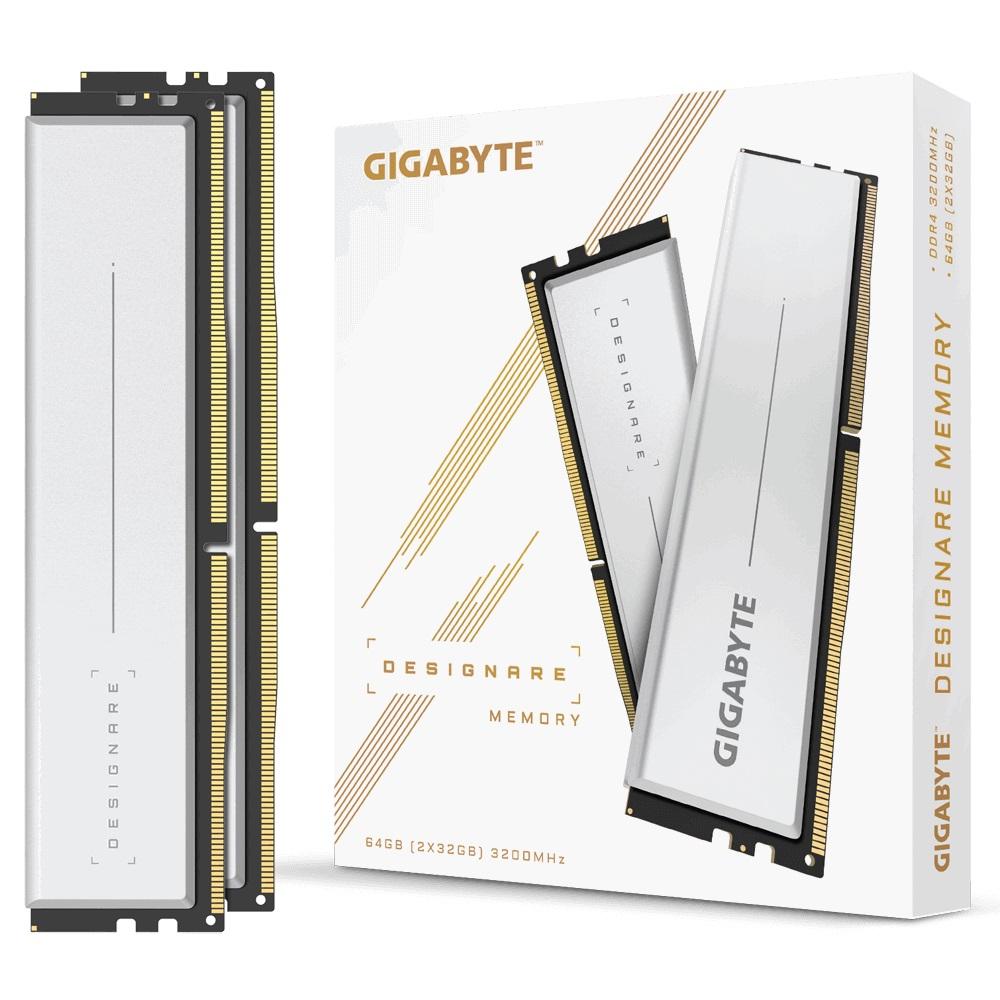 Gigabyte, GP-DSG64G32, 64GB, (2x32GB), DDR4, 3200MHz, C18, 1.2V, XMP, 2.0, Dual, Channel, Kit, Gray, Heatsinks, PC, Desktop, RAM, with, Dem,