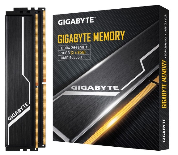 Gigabyte, Gaming, Memory, 16GB, (2x8GB), DDR4, 2666MHz, C16, 1.2V, 16-16-16-35, XMP, 2.0, Dual, Channel, Kit, Aluminum, Black, Heatsinks,